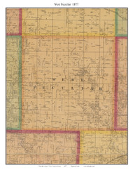 West Peculiar - Peculiar, Cass Co. Missouri 1877 Old Town Map Custom Print Cass Co.