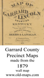Map Cartouche, Garrard County, Kentucky 1879 - NOT FOR SALE -