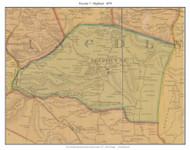 Precinct 7 - Highland - Kings Mountain - South Fork, Kentucky 1879 -  Lincoln Co.