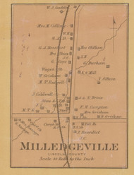 Milledgeville Village, Precinct 5, Kentucky 1879 - Lincoln Co.