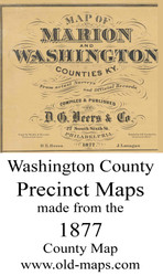 Map Cartouche, Washington County, Kentucky 1877 - NOT FOR SALE