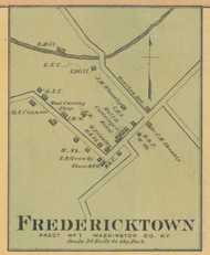 Fredricktown Village, Precinct 1 , Kentucky 1877 - Washington Co.