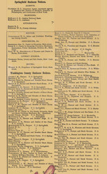 Business Notices, Springfield & Washington County, Kentucky 1877 -