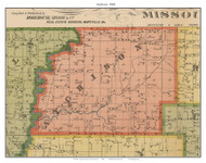 Atchison - Clearmont, Missouri 1900 Old Town Map Custom Print Nodaway Co.