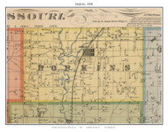 Hopkins, Missouri 1900 Old Town Map Custom Print Nodaway Co.