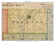 Hopkins, Missouri 1900 Old Town Map Custom Print Nodaway Co.