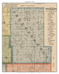Independence, Missouri 1900 Old Town Map Custom Print Nodaway Co.