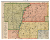 Lincoln - Lamar Station, Missouri 1900 Old Town Map Custom Print Nodaway Co.