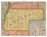 Nodaway, Missouri 1900 Old Town Map Custom Print Nodaway Co.