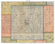 Polk - Maryville, Missouri 1900 Old Town Map Custom Print Nodaway Co.