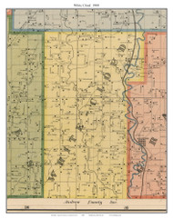 White Cloud - Bridgewater, Missouri 1900 Old Town Map Custom Print Nodaway Co.