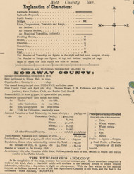Map Key, Nodaway County, Missouri 1900 Old Town Map Custom Print
