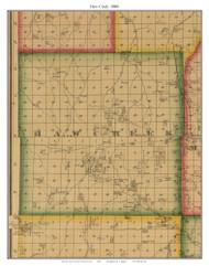Haw Creek, Missouri 1880 Old Town Map Custom Print Morgan Co.