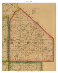 Moreau - Versailles - Barrettsville - Excelsior - St. Martin, Missouri 1880 Old Town Map Custom Print Morgan Co.