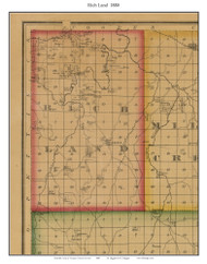 Rich Land - Florence, Missouri 1880 Old Town Map Custom Print Morgan Co.