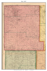 Box - El Dorado Springs - Clintonville - Virgil City, Missouri 1897 Old Town Map Custom Print Cedar Co.