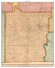 Linn - Stockton - Wagoner - White Hare - Omer, Missouri 1897 Old Town Map Custom Print Cedar Co.