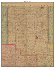 Kearney - Holt, Missouri 1887 Old Town Map Custom Print Clay Co.