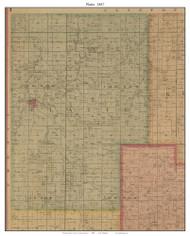 Platte - Smithville - Paradise, Missouri 1887 Old Town Map Custom Print Clay Co.