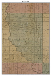 Harrison, Missouri 1890 Old Town Map Custom Print Grendy Co.