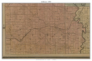Jefferson, Missouri 1890 Old Town Map Custom Print Grendy Co.