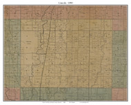 Lincoln, Missouri 1890 Old Town Map Custom Print Grendy Co.
