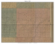 Marion, Missouri 1890 Old Town Map Custom Print Grendy Co.