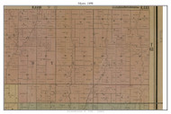 Myers, Missouri 1890 Old Town Map Custom Print Grendy Co.