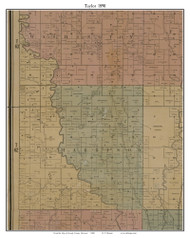 Taylor, Missouri 1890 Old Town Map Custom Print Grendy Co.