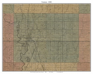 Trenton, Missouri 1890 Old Town Map Custom Print Grendy Co.