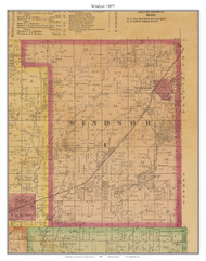 Windsor, Missouri 1877 Old Town Map Custom Print Henry Co.