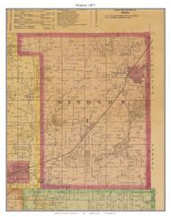 Windsor, Missouri 1877 Old Town Map Custom Print Henry Co.