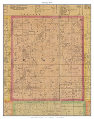 Shawnee - Huntingdale, Missouri 1877 Old Town Map Custom Print Henry Co.
