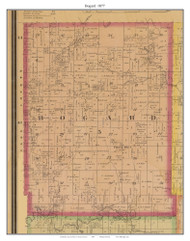 Bogard -Urick, Missouri 1877 Old Town Map Custom Print Henry Co.