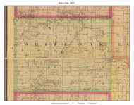 White Oak - Lucas, Missouri 1877 Old Town Map Custom Print Henry Co.
