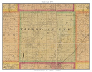 Field's Creek, Missouri 1877 Old Town Map Custom Print Henry Co.