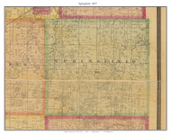 Springfield, Missouri 1877 Old Town Map Custom Print Henry Co.