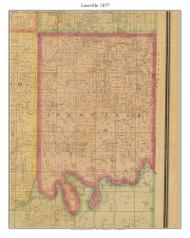 Leesville, Missouri 1877 Old Town Map Custom Print Henry Co.