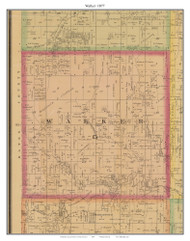 Walker, Missouri 1877 Old Town Map Custom Print Henry Co.