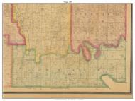Osage - Brownington - Consville, Missouri 1877 Old Town Map Custom Print Henry Co.