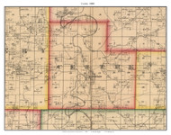 Centre - Hermitage, Missouri 1880 Old Town Map Custom Print Hickory Co.