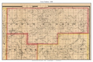 Cross Timbers, Missouri 1880 Old Town Map Custom Print Hickory Co.