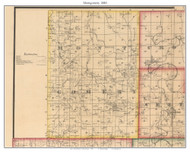 Montgomery -Wheatland -Quincy, Missouri 1880 Old Town Map Custom Print Hickory Co.