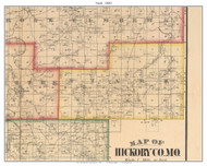 Stark - Goose Neck, Missouri 1880 Old Town Map Custom Print Hickory Co.