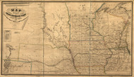 Chicago & Northwestern Railroad -- Wisconsin to Nebraska , 1862 Midwest - USA Regionals