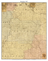 Brooking - Little Blue, Missouri 1887 Old Town Map Custom Print Jackson Co.