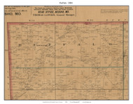 Buffalo, Missouri 1884 Old Town Map Custom Print McDonald Co.