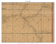 Center - Tribulation - Powell, Missouri 1884 Old Town Map Custom Print McDonald Co.