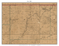 Erie - Indian Springs - Medical Twin Springs, Missouri 1884 Old Town Map Custom Print McDonald Co.
