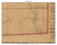 Mountain, Missouri 1884 Old Town Map Custom Print McDonald Co.